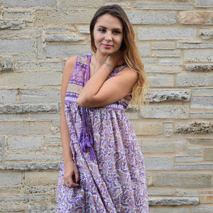 Purple and Gold Maternity Style Dress The Fox and the Mermaid