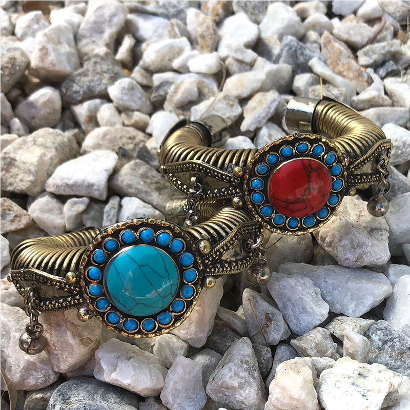 Turquoise blue bracelet cuff - The Fox and the Mermaid