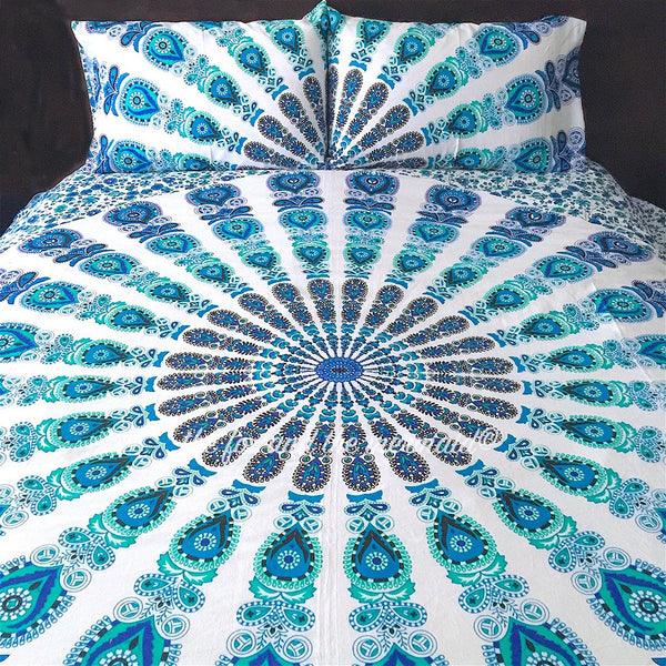 The Beatnik Blue Tapestry Bedding - The Fox and The Mermaid - 1