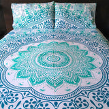 Pale Green Ombre Tapestry Bedding