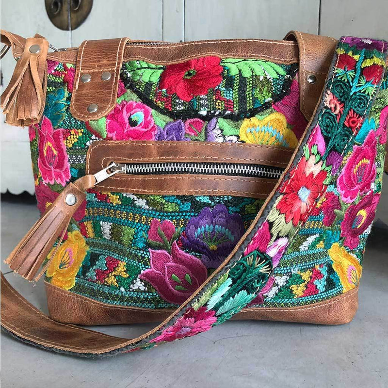Floral Guatemalan Bag The Fox and the Mermaid