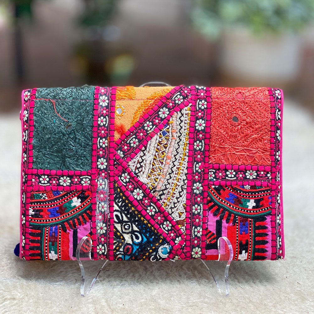 Indian vintage embroidered wallet purse - The Fox and the Mermaid