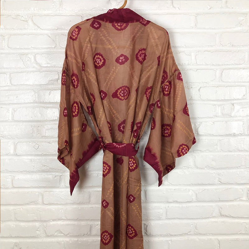 vintage silk robe kimono The Fox and the Mermaid