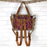 mayan huipil bag with backpack straps The Fox and the Mermaid