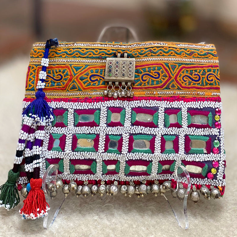 trbal banjara beaded clutch - The Fox and the Mermaid