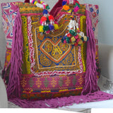Hand-embellished Banjara tribe bag The Fox and the Mermaid
