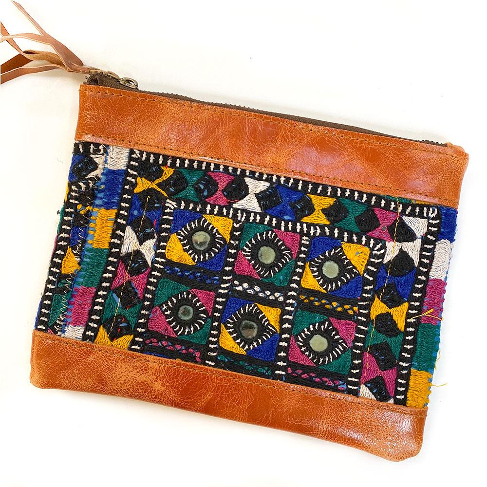 Vintage Banjara Clutch in Yellow, Purple, Green, Black and Blue - The Fox and The Mermaid - 2