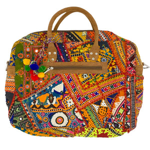 colorful tribal embroidered laptop bag - The Fox and the Mermaid