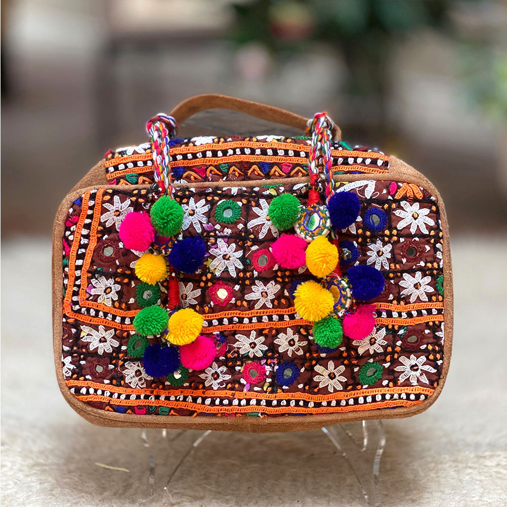Embroidered banjara tribal toiletry bag - The Fox and the Mermaid