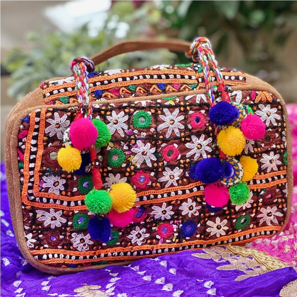 Embroidered Banjara bag - The Fox and the Mermaid