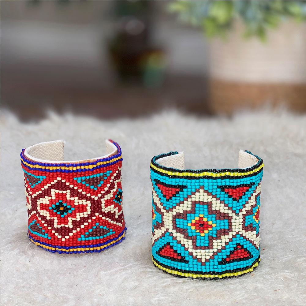 Beaded Aztec Bracelets - The Fox and The Mermaid
