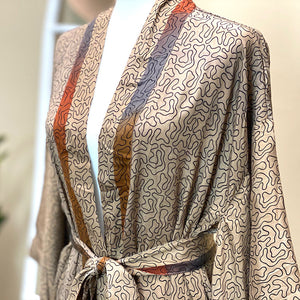 soft vintage silk robe - The Fox and the Mermaid