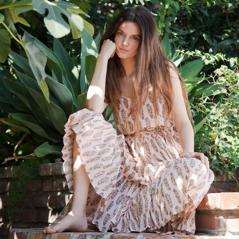 indian block printed  Maxi dress - The Fox and the Mermaid