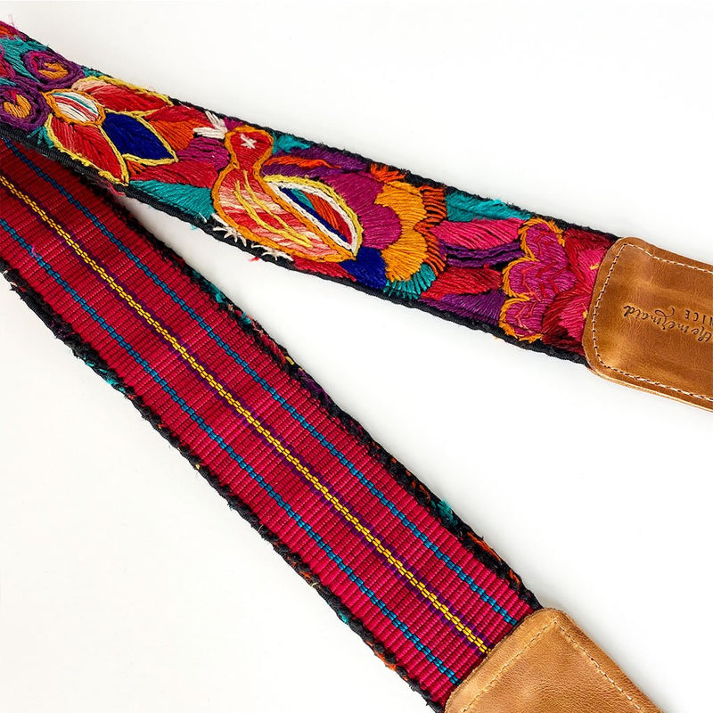 embroidered guatemalan strap The Fox and the Mermaid