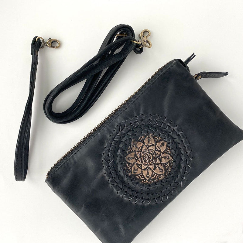 black leather 3 in 1 bag The Fox and the Mermaid
