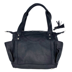 Black Leather Guatemalan Convertible Bag - The Fox and the Mermaid