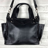 soft black leather bag  - The Fox and the Mermaid