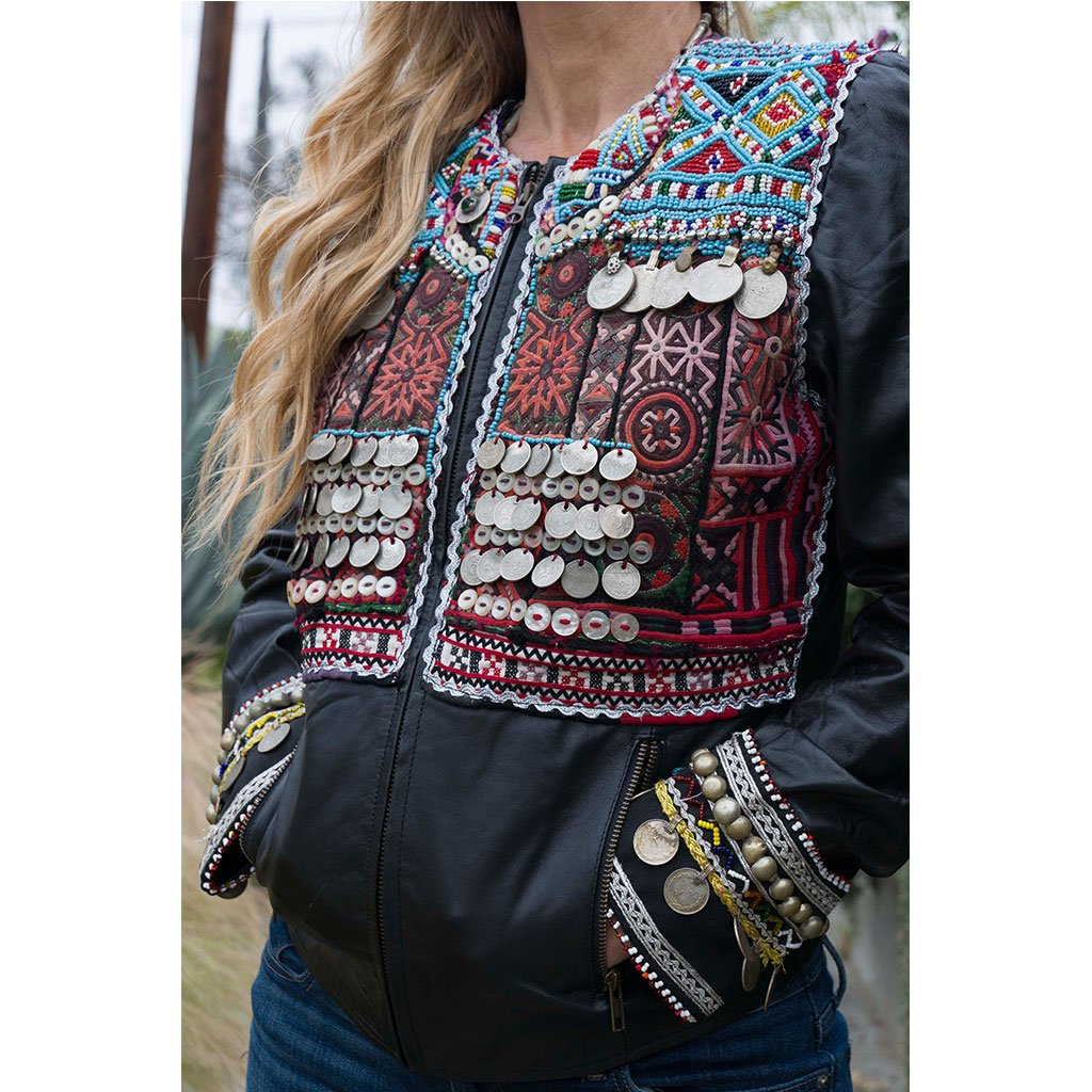 detail leather banjara jacket The Fox and the Mermaid