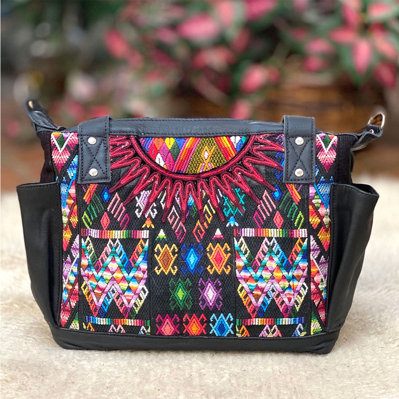black leather guatemalan bag - The Fox and the Mermaid