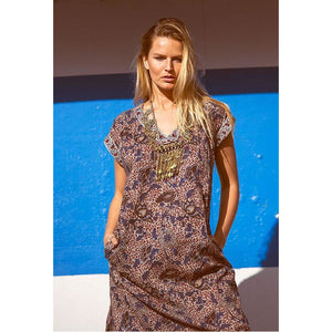 grey and blue indian boho chic dress  The Fox and the Mermaid