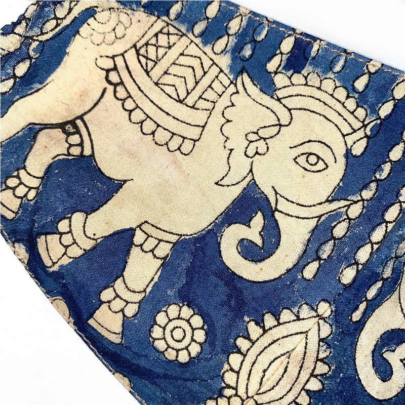 elephant detail on cotton face mask - The Fox and the Mermaid