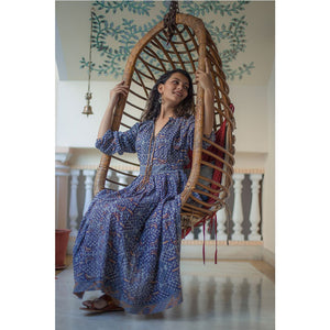 bohemian blue boho dress The Fox and the Mermaid