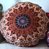 Mandala Tapestry Floor Cushion: Brown and Black - The Fox and The Mermaid - 1