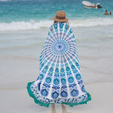 The Pavo Mandala Roundie with Fringe - The Fox and The Mermaid - 1