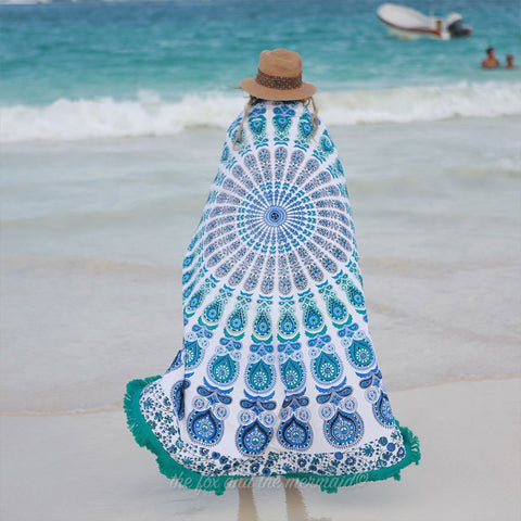 The Pavo Mandala Roundie with Fringe