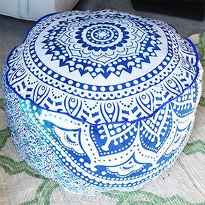 Mandala Tapestry Pouf or Ottoman Cover - The Fox and The Mermaid - 2