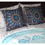 Square Mandala Tapestry Cushion Cover - The Fox and The Mermaid - 2