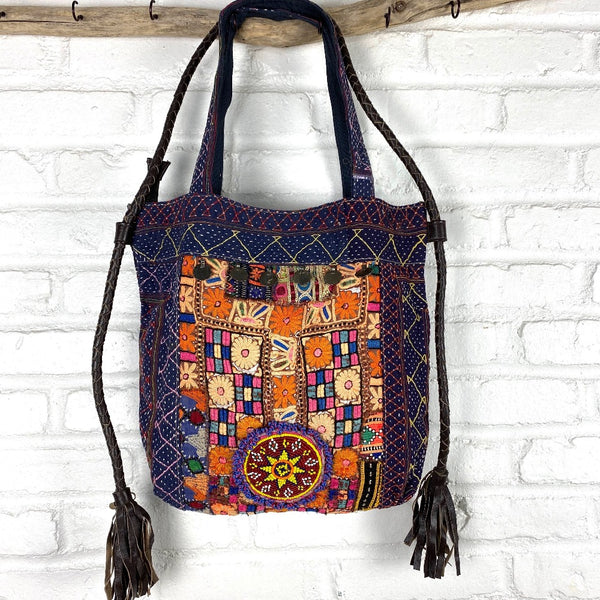 vintage indian kantha purse The Fox and the Mermaid