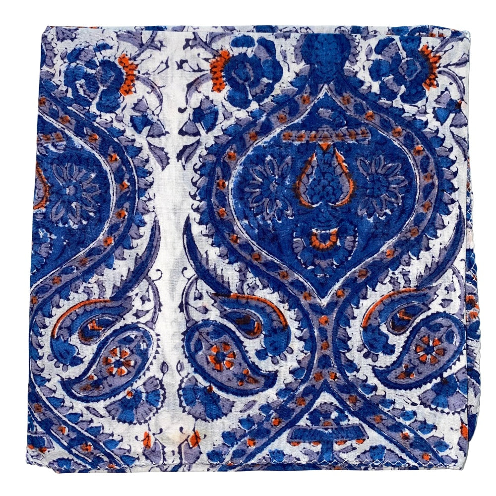 blue paisley indian scarf - The Fox and the Mermaid