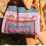Large Hmong Tribe Embroidered Bag (Various Colors)