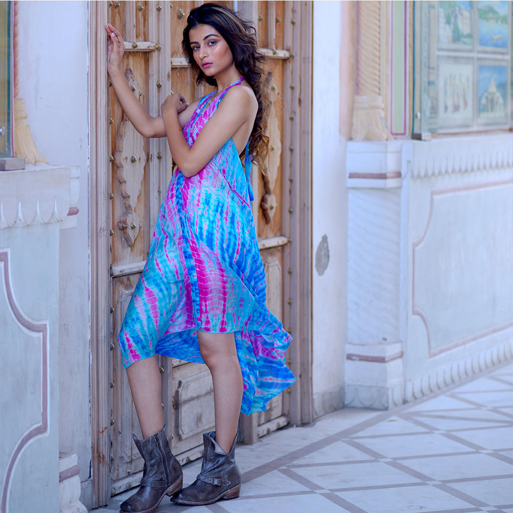 silky indian boho dress - The Fox and the Mermaid