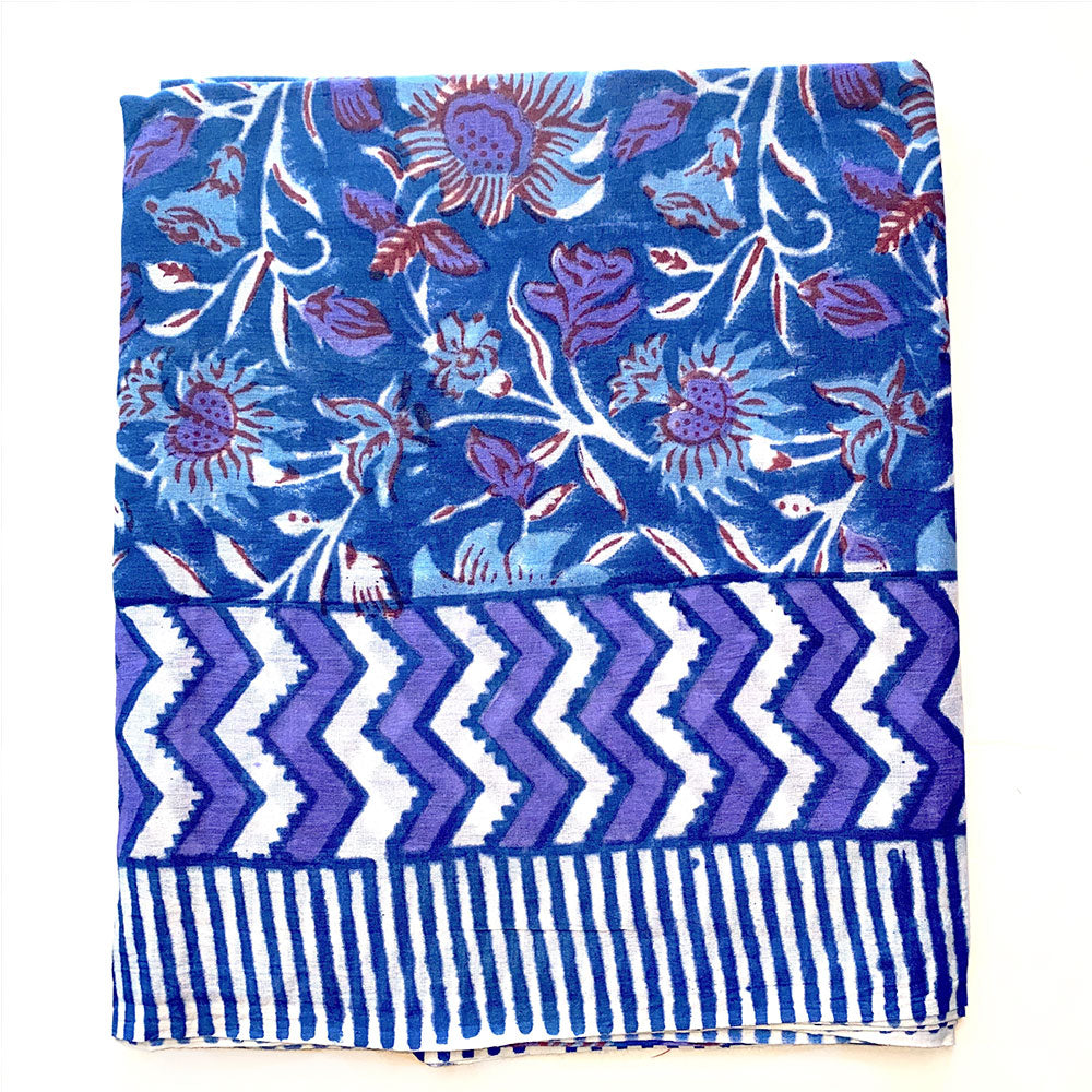 blue and purple sarong with striped border - The Fox and the Mermaid
