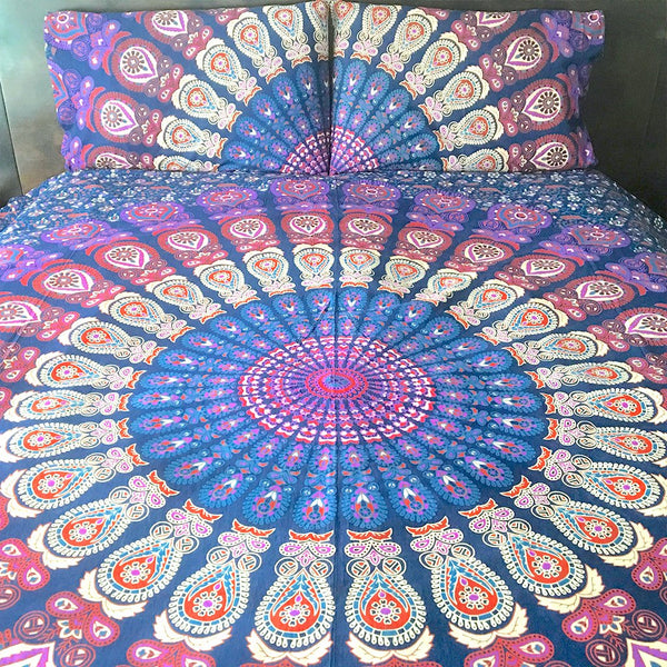 Purple Mandala Tapestry Duvet Cover The Fox and the Mermaid