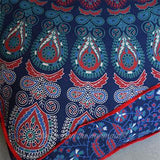 Bliss Mandala Tapestry Floor Cushion and Dog Bed: Blue and Red - The Fox and The Mermaid