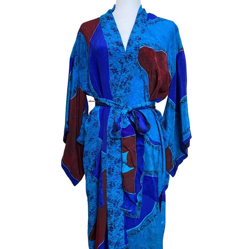 crepe silk kimono - The Fox and the Mermaid