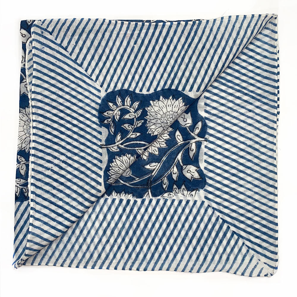 Traditional indian block printed napkin - The Fox and the Mermaid