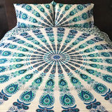The Beatnik Blue Tapestry Bedding - The Fox and The Mermaid - 3