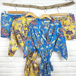 Blue and yellow pajama sets - The Fox and the Mermaid