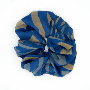 Blue silk scrunchie - The Fox and the Mermaid