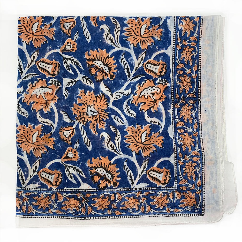 blue and orange napkins - The Fox and the Mermaid