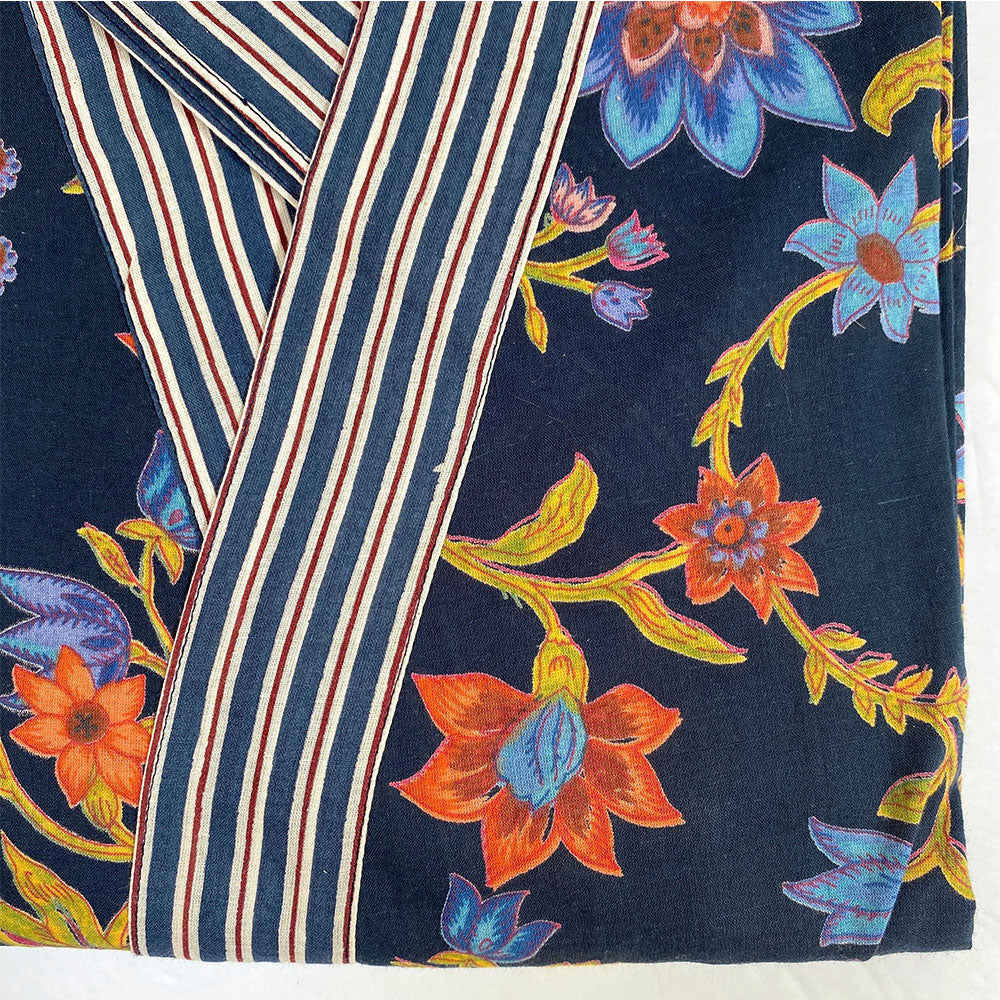 navy blue robe detail The Fox and the Mermaid