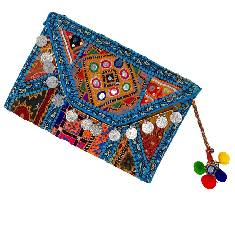 turquoise and orange banjara bag - The Fox and the Mermaid
