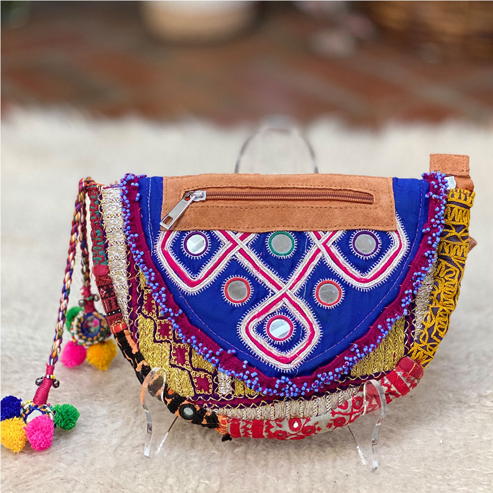 Banjara embroidered tribal OOAK fanny bag - The Fox and the Mermaid