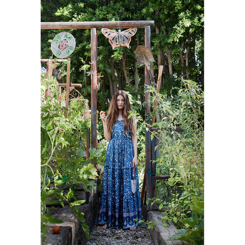 floaty blue maxi dress - The Fox and the Mermaid