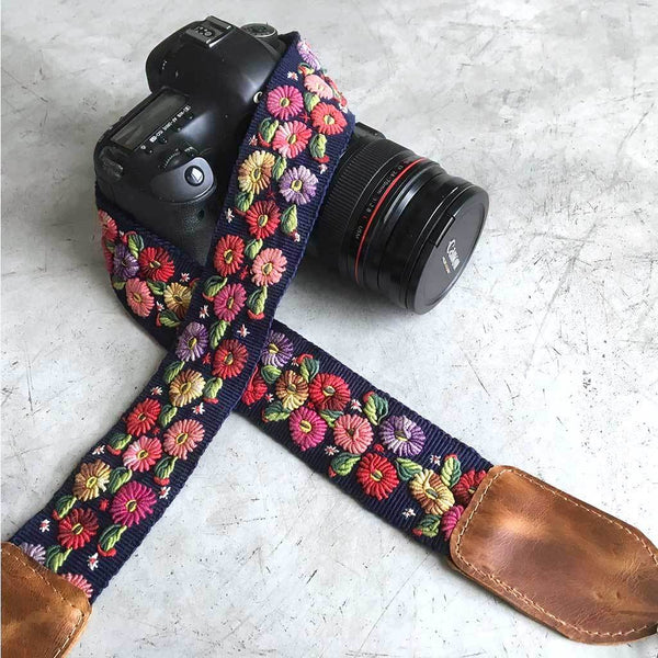 Blue Camera Strap The Fox and the Mermaid