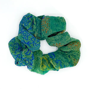 Soft silk scrunchie - The Fox and the Mermaid